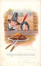 hol062063 - Thanksgiving Old Vintage Antique Postcard Post Card