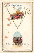hol062064 - Thanksgiving Old Vintage Antique Postcard Post Card