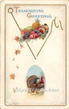 hol062064 - Thanksgiving Old Vintage Antique Postcard Post Card