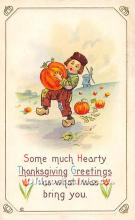 hol062065 - Thanksgiving Old Vintage Antique Postcard Post Card
