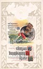 hol062066 - Thanksgiving Old Vintage Antique Postcard Post Card