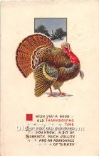 hol062067 - Thanksgiving Old Vintage Antique Postcard Post Card