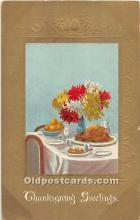 hol062068 - Thanksgiving Old Vintage Antique Postcard Post Card