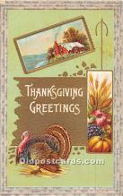hol062072 - Thanksgiving Old Vintage Antique Postcard Post Card