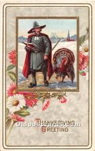 hol062073 - Thanksgiving Old Vintage Antique Postcard Post Card