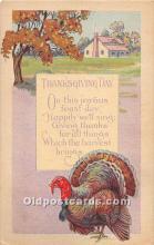 hol062077 - Thanksgiving Old Vintage Antique Postcard Post Card