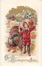 hol062081 - Thanksgiving Old Vintage Antique Postcard Post Card