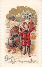 hol062081 - Thanksgiving Old Vintage Antique Postcard Post Card