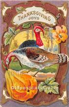 hol062085 - Thanksgiving Old Vintage Antique Postcard Post Card