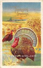 hol062088 - Thanksgiving Old Vintage Antique Postcard Post Card