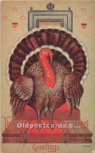 hol062089 - Thanksgiving Old Vintage Antique Postcard Post Card