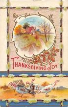 hol062092 - Thanksgiving Old Vintage Antique Postcard Post Card