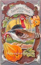 hol062094 - Thanksgiving Old Vintage Antique Postcard Post Card