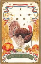 hol062096 - Thanksgiving Old Vintage Antique Postcard Post Card