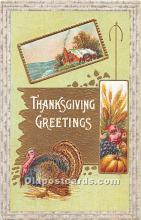 hol062097 - Thanksgiving Old Vintage Antique Postcard Post Card