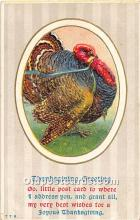 hol062098 - Thanksgiving Old Vintage Antique Postcard Post Card