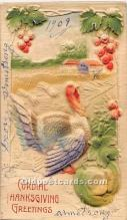 hol062101 - Thanksgiving Old Vintage Antique Postcard Post Card