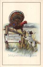 hol062102 - Thanksgiving Old Vintage Antique Postcard Post Card