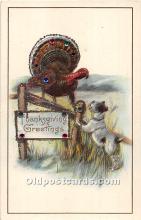 hol062102 - Thanksgiving Old Vintage Antique Postcard Post Card