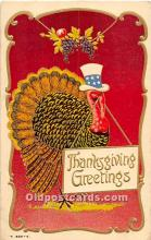 hol063091 - Thanksgiving Greeting Postcard