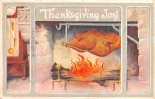 hol064003 - Thanksgiving Postcard Old Vintage Antique Post Card