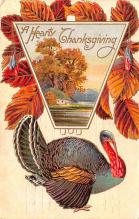 hol064007 - Thanksgiving Postcard Old Vintage Antique Post Card