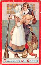 hol064013 - Thanksgiving Postcard Old Vintage Antique Post Card