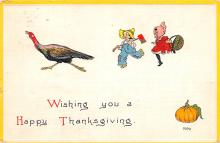 hol064027 - Thanksgiving Postcard Old Vintage Antique Post Card