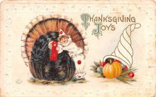 hol064031 - Thanksgiving Postcard Old Vintage Antique Post Card