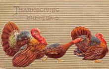hol064035 - Thanksgiving Postcard Old Vintage Antique Post Card