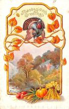 hol064037 - Thanksgiving Postcard Old Vintage Antique Post Card