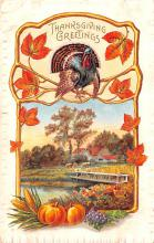 hol064039 - Thanksgiving Postcard Old Vintage Antique Post Card