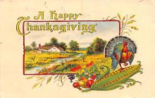 hol064041 - Thanksgiving Postcard Old Vintage Antique Post Card