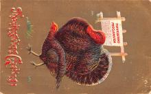 hol064043 - Thanksgiving Postcard Old Vintage Antique Post Card