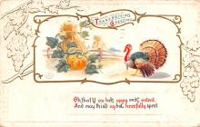 hol064047 - Thanksgiving Postcard Old Vintage Antique Post Card
