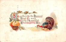 hol064049 - Thanksgiving Postcard Old Vintage Antique Post Card