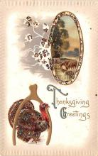 hol064051 - Thanksgiving Postcard Old Vintage Antique Post Card