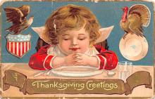 hol064053 - Thanksgiving Postcard Old Vintage Antique Post Card
