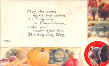 hol064057 - Thanksgiving Postcard Old Vintage Antique Post Card