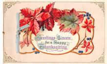 hol064067 - Thanksgiving Postcard Old Vintage Antique Post Card