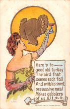 hol064071 - Thanksgiving Postcard Old Vintage Antique Post Card