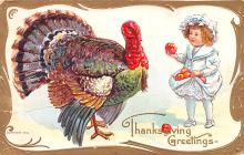 hol064077 - Thanksgiving Postcard Old Vintage Antique Post Card