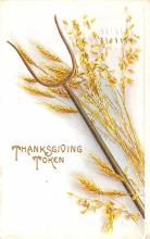 hol064079 - Thanksgiving Postcard Old Vintage Antique Post Card