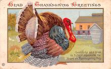 hol064081 - Thanksgiving Postcard Old Vintage Antique Post Card