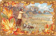 hol064083 - Thanksgiving Postcard Old Vintage Antique Post Card
