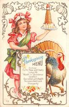 hol064091 - Thanksgiving Postcard Old Vintage Antique Post Card