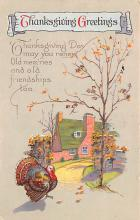 hol064093 - Thanksgiving Postcard Old Vintage Antique Post Card