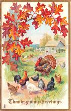 hol064095 - Thanksgiving Postcard Old Vintage Antique Post Card
