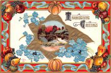 hol064097 - Thanksgiving Postcard Old Vintage Antique Post Card