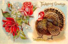 hol064101 - Thanksgiving Postcard Old Vintage Antique Post Card